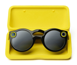 A picture of the Spectacles inside their charging case.