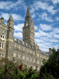 Healy Hall                                houses classrooms and the university's executive body.