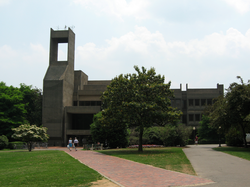 Lauinger Library                                , Georgetown's main library, was built in 1970.