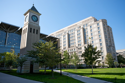 The Hotung International Law Center and GULC fitness center were built next to the Gewirz Student Center in 2005.