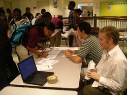 Students volunteer at a D.C. inner-city school