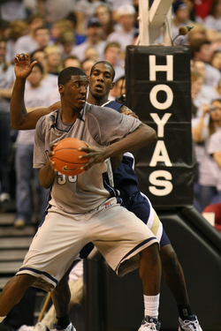 Basketball stars like                                 Roy Hibbert                                have led the Hoyas to seven                                 Big East championships                                .
