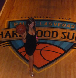 Photo of Lisa Marie Naegle with a basketball [2]