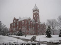 Tillman Hall                                in the snow