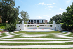 Outdoor Theater and Cooper Library at Clemson University
