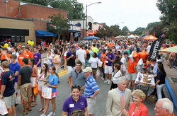 Clemson Welcome Back Festival in 2012