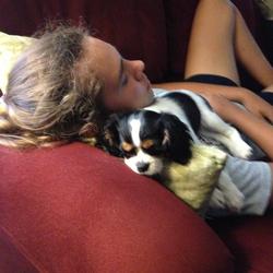 Savannah Williams and her dog