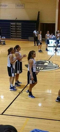 Savannah Williams playing basketball