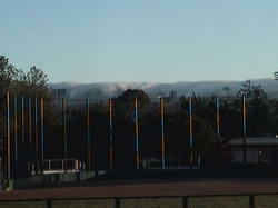Fog from the Pacific rolling over the Foothills