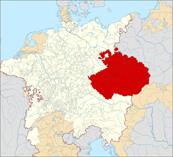 The Crown of Bohemia within the Holy Roman Empire (1600). The Czech lands were part of the Empire in 1004–1806, and Prague was the imperial seat in 1346–1437 and 1583–1611.