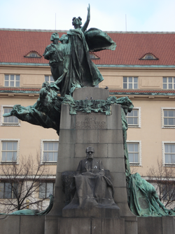 Monument to František Palacký, a significant member of the Czech National Revival