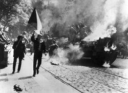The Prague Spring political liberalization of the communist regime was stopped by the 1968 Warsaw Pact invasion of Czechoslovakia
