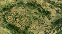 Satellite image of the Czech Republic