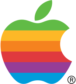 First official Apple logo used from April 1977                                                   [3]                                                 to 1998.