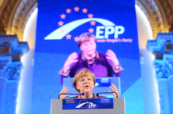 Angela Merkel at the 2012 congress of the                                 European People's Party                                (EPP)