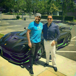 Antik Bose taking his Koenigsegg Agera RS for a spin