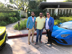 Antik Bose with Haute Living & Haute Residence's CEO Seth Semilof and Roh Habibi.