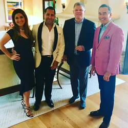 Antik Bose with the Associate Publisher of Modern Luxury Interiors California, Andrew P Stoermer during the house warming party at his newest home in Floral Park, Santa Ana.