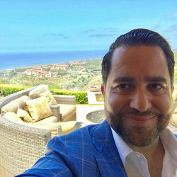 Antik Bose enjoying a beautiful day at his Crystal cove, Newport Coast house