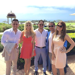 Antik Bose attending a private lunch with the Altman Brothers at the Pelican  Hill Resorts