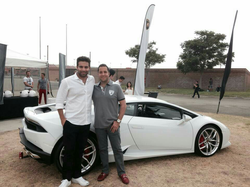 Antik Bose with his Lamborghini Gallardo at Autoclub Speedway, Fontana, CA