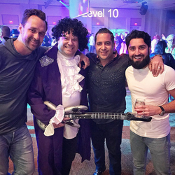 Antik Bose with Tim Smith, Dov Silberman and Roh Habibi at the 80s Party during Tom Ferry's Elite Retreat 2018 at JW Marriott Desert Springs Resort & Spa.
