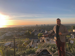Antik Bose enjoying the Sunset from his house in Ocean Heights, Newport Coast, CA.
