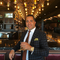 Antik Bose enjoying the Macallan 30 at The Grand Havana Room, Beverly Hills.
