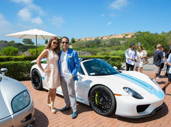 Antik Bose posing with his Porsche 918 Spyder and Koenigsegg Agera RS