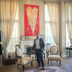 Antik Bose at his Upper East Side Manhattan house.