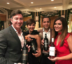 Antik Bose at Nellcote Wine Tasting Event supporting CASA with President of Nellcote Wines, Tyler Olbres