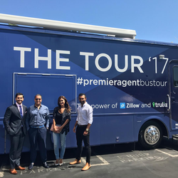Antik Bose attending the Premier Agent Zillow & Trulia Bus Tour 2017 with his team