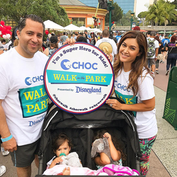 Antik Bose attending the Choc Children's Walk in the Park 2017 at Disneyland.