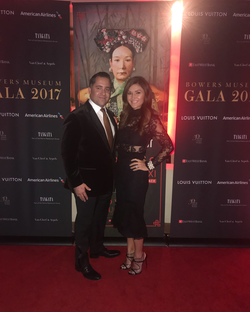 Antik Bose attending the Bowers Museum Gala 2017 showcasing Empress Dowager Cixi and her Imperial Porcelain.