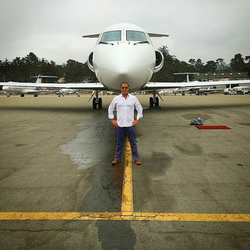 Antik Bose with his Cessna Citation Jet