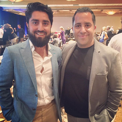 Antik Bose with Roh Habibi, the host of Million Dollar Listings San Francisco.