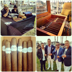 Antik Bose attending the Gentlemen's Smoker Event at Balboa Bay Club, Newport beach.