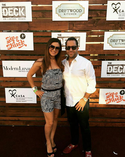 Antik Bose attending the Sip & Shuck 2016 at Driftwood Kitchen supporting CASA