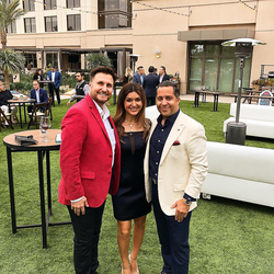 Antik Bose attending the Choc children's Poker Tournament 2018 with Zack Abrams, Choc Children's Special events director at Irvine Marriott Spectrum.