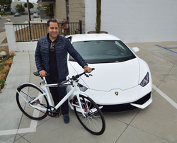 Antik Bose with his Lamborghini Huracan