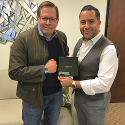 Antik Bose with Audemars Piguet's Regional Business Development Manager OC, Errol Phippens.