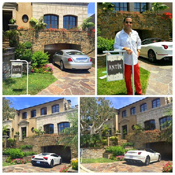 Antik Bose at his Granite Bay Mansion with his Rolls Royce, Ferrari and Lamborghini