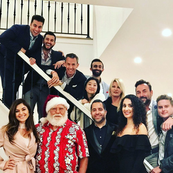 Antik Bose hosting the Holidays Party 2017 with his team at his house in Ocean heights, Newport Coast.