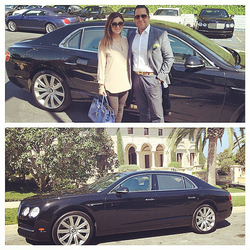 Antik Bose taking the delivery of his new Bentley Continental GT from Bentley Newport beach