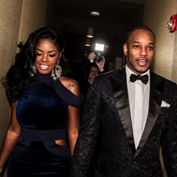 Juju with Cam'ron (at a formal)