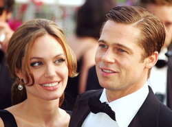 Jolie with her husband Brad Pitt, at the Cannes premiere of A Mighty Heart in May 2007