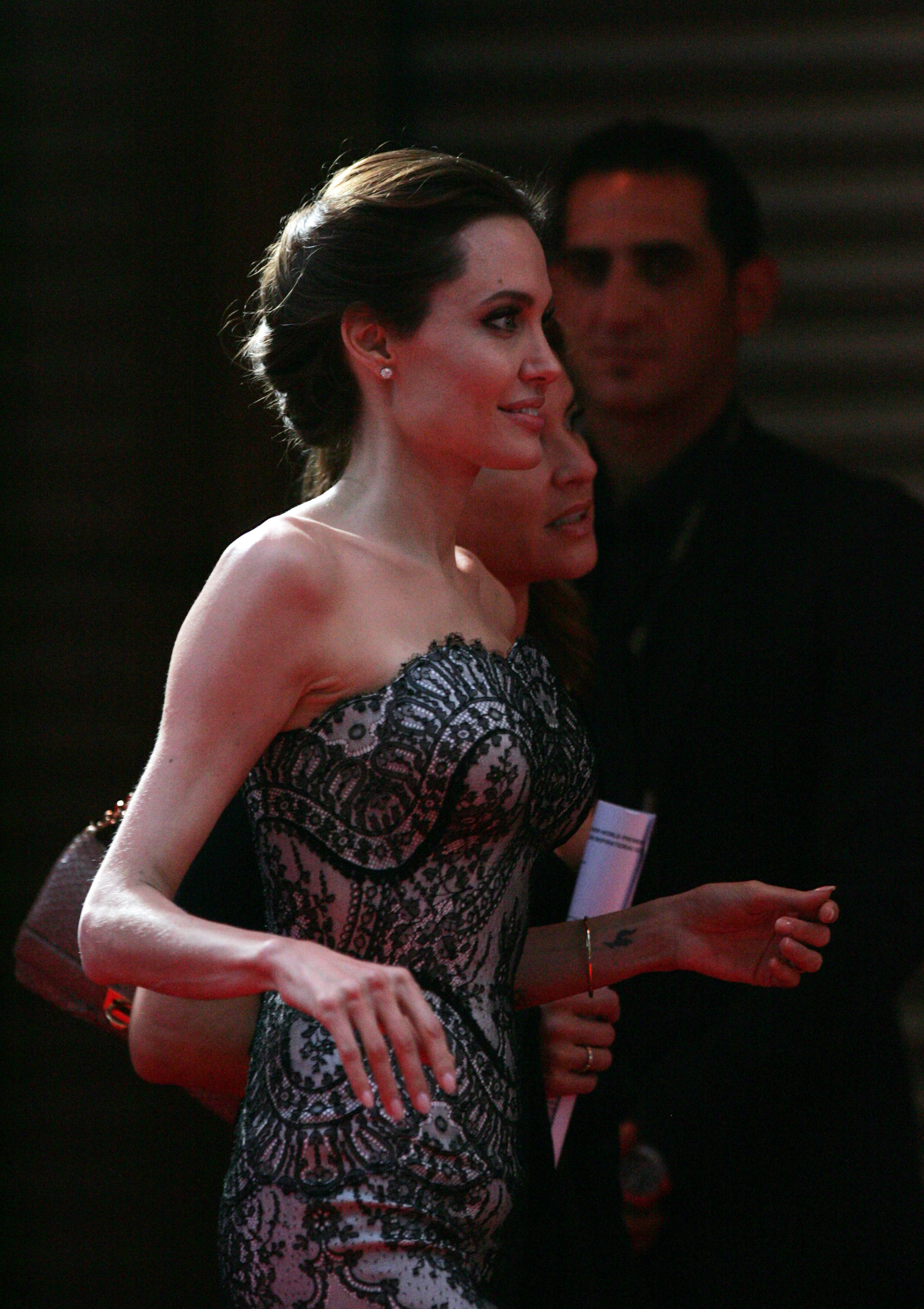 Jolie at the premiere of Unbroken in 2014