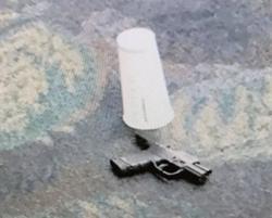 Handgunfound at the scene