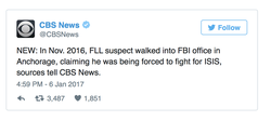 Esteban Santiago told the FBI he was fighting for ISIS