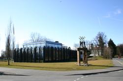 The I.O.C. headquarters at                                 Lausanne                                .